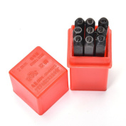 9pcs 2 mm Stamps Number Set Punch Steel Metal Die Tool Case Home Arts Craft
