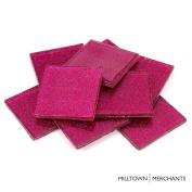 Milltown Merchants™ 1.8 Inch (48mm) Hot Pink Glitter Mosaic Tile - Bulk Sparkle Mosaic Tiles - 0.5kg (470ml) Shimmer Tile Assortment For Backsplash, Murals, Stepping Stones, and Mosaics