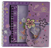 PURPLE FLOWER SPIRAL BOUND ART NOTE BOOK