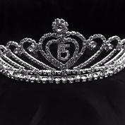 QUINCEANERA TIARA HAPPY BIRTHDAY 15 CROWN RHINESTONES TIARA MIS 15 CORONA SWEET 15 BIRTHDAY