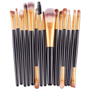XILALU Women 15PCS Eye Shadow Foundation Eyebrow Lip Brush Makeup Brushes Tool, Suitable For Both Professional And Home Use