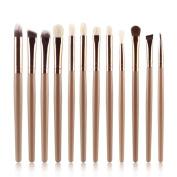 XILALU Women 12PCS Cosmetic Brush High-grade Synthetic Fibres Makeup Brush Sets Kits Tools