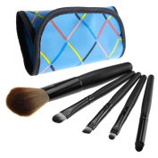 5pcs professional Cosmetic Make Up Brush with blue bag case