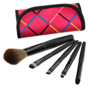 5pcs professional Cosmetic Make Up Brush with red bag case