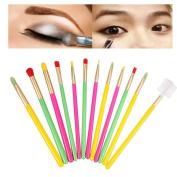 Botrong 12PCS Make Up Brushes Foundation Eyebrow Eyeliner Blush Cosmetic Concealer Brush Set