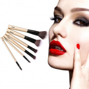 Botrong 6PCS Wooden Makeup Brush Set Foundation Powder Eyeshadow Cosmetic Brushes