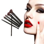 Botrong 6PCS Rubber Cosmetic Makeup Brush Set Foundation Powder Eyeshadow Brushes