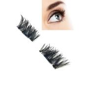 Magnetic Eyelashes,Hunzed Natural Ultra-thin Eyelashes 3D Reusable False Magnet Eye Lashes Extension
