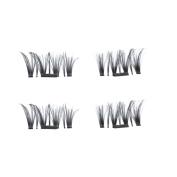 FANOUD 4pcs Ultra-thin 0.4mm Magnetic Eye Lashes 3D Reusable False Magnet Eyelashes for Women