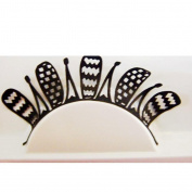 Aurorax Women Paper-Cut Art Style Paper Nightclub Stage False Eyelashes
