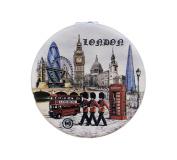 London England Compact Personal Travel Mirror 6.4cm x 6.4cm Round