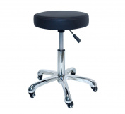 Antlu Black Adjustable Hydraulic Rolling Swivel Stool Chair Tattoo Facial Massage Salon