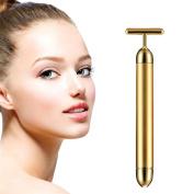 Beauty Bar 24k Golden Pulse Facial Massager T Shape Gold Facial Beauty Massager Energy