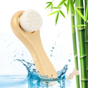 Facial Cleansing Brush Manual Spa Wash Massage Exfoliation Brush With Wooden Long Handle