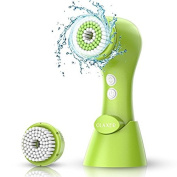 OLAXER Electronic Rotating Facial Cleansing Brush, Face Exfoliating Scrubber Brush 2 Speed Cleanser Washer, Battery Operated with 2 Brush Heads