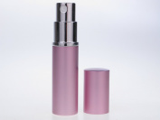 Pink Spray Empty Perfume Atomizer for Handbag, Pocket & Travel. Capacity 5ml. Refillable, includes funnel