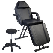 Costway Salon Beauty Chair Balance Massage Table Tattoo Facial Couch Bed Beauty Bed W/ Stool