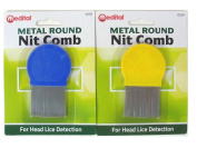 METAL ROUND NIT COMB Hair Fine Tooth Toothed Remove Gritty Nitty Head Lice Eggs by Lizzy®