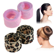 Hairagami 2 Magic Scrunchies Leopard-Pink