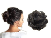 ShowPower Hair Extensions Curly Or Messy Updo Bun Add Body In Black brown # 2