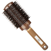 H & S Round Hair Brush Blow Dry Drying Boar Bristle 53mm Large Round Barrel Nano Technology Ceramic Ionic Hairbrush