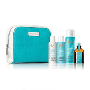 NEW MOROCCAN OIL LUXURY HYDRATE AND STYLE TRAVEL KIT 4 PRODUCTS BAG