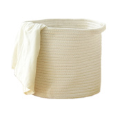 Large Cotton Woven Rope Storage Baskets Bins Hamper with Handles for Nursery,Toys Storage,Laundry,
