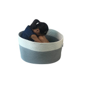 ICEBLUE XXXL Jumbo Toy Storage Cotton Rope Basket Hamper with invisible handles