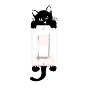 ZMvise Cat Wall Stickers Light Switch Decor Decals Art Mural Baby Nursery Room