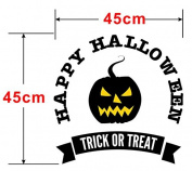 Dnven (46cm W X 46cm H) Happy Halloween Party Trick or Treat Pumpkins Smile Face Wall Decals Window Mirror Stickers Halloween Decorations for Kids Rooms Nursery Halloween Party