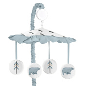 Musical Baby Crib Mobile for Bear Mountain Watercolour Collection by Sweet Jojo Designs