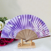 Pattern Folding Dance Wedding Party Lace Silk Folding Hand Held Flower Fan ,Tuscom