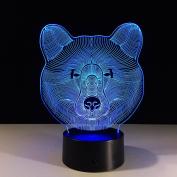 Bear 7 Colour 3d Led Night Lamps For Kids Touch Led Usb Table Lampara Lampe Baby Sleeping Nightlight Motion Sensor 3d Light