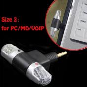 Professional Mini Recorder,Portable Stereo Voice Digital Mic Microphone For Smartphones PC,Tuscom