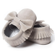 DXINXIN Baby Crib Tassels Bowknot Shoes Toddler Sneakers Casual Shoes Grey 11