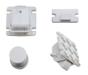 Invisible Child Safety Cabinet Locks by MB Creatives - 8 Magnetic Locks & 2 Keys Included - Childproof Your Cabinets & Drawers with Adhesive Cabinet Locks for your Baby or Toddler - No Tools Required