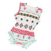 TRENDINAO Newborn Baby Girls Clothes Geometric Printing Romper Bodysuit