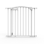 Perma Child Safety Ultimate Secure Handle Safe Step Auto Close Doorway Gate, White, Large