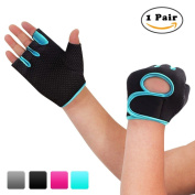Nlife Power-Grip Half-finger SPORTS GLOVES,EXERCISE GLOVES Ideal For Cycling, Rowing, and Weightlifting