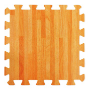 Wood Effect Interlocking Foam Mats - Perfect for Floor Protection, Garage, Exercise, Yoga, Playroom. Eva foam