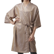Colorfulife Salon Client Gown Robe Leaves Pattern Smock Kimono Hairdressing Cape Dress Beauty SPA Hotel Barber Guest Clothes Night-gown Wrap