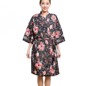 Colorfulife Salon Client Gown Robe Rose Flower Smock Kimono Hairdressing Cape Dress Beauty SPA Hotel Barber Guest Clothes Night-gown Wrap