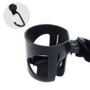 Universal Cup Holder for Stroller Jogger Bicycle Trolley - Bonus A Hook