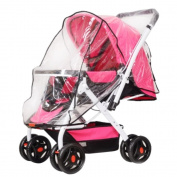 Folding Transparent Baby Pushchair Stroller Cover Pram Rain-proof Wind-proof Protector