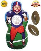 Premium Inflatable Football Target Set - Inflates to 1.5m Tall! - 2x Mini Footballs Included! - Bonus Flag Football eBook!