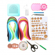 Lantee 16 Sets of Quilling Paper Kits Include 6 Pack of 5mm 29 Colours 600 Quilling Paper Strips and 10 Quilling Tools
