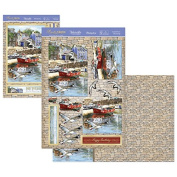 Hunkydory Crafts Rustic Charm Coastal Town Card Kit CHARM901