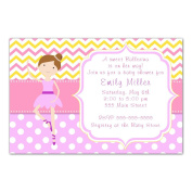 30 Invitations Balleina Baby Shower Personalised Cards + 30 White Envelopes