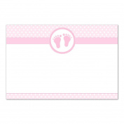 30 Blank Cards Invitations Thank You Cards Pink Girl Baby Shower + 30 White Envelopes