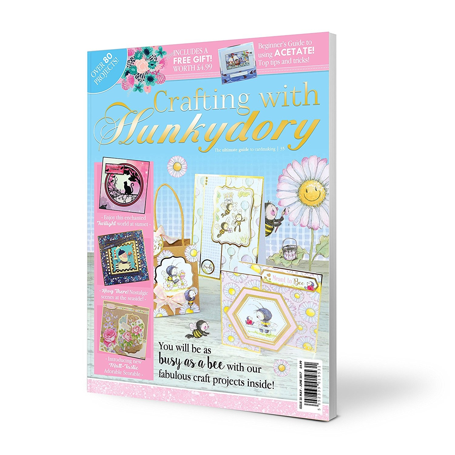 Crafting With Hunkydory Issue 35 Papercraft Magazine Card Kit By